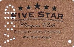 Bullwhackers Casino Black Hawk, CO Bronze Slot Card - ACC Over Mag Stripe - VOID / SAMPLE - Casino Cards