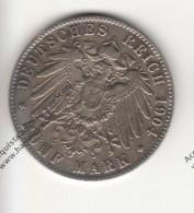 RIPRODUZIONE MONETA DEL 1904 GERMANIA 5 FUNF MARK  - MONETA FALSA - - Imitazioni
