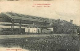 64 Puyoo, La Gare, Verso Cachet Régiment Artillerie, 51ème Section De 75 - Autres Communes