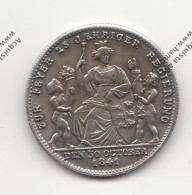 RIPRODUZIONE MONETA TEDESCA DEL 1841 WILHELM KONIG V. WURTTEMBERG - MONETA FALSA - - Imitazioni
