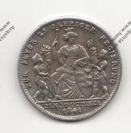 RIPRODUZIONE MONETA TEDESCA DEL 1841 WILHELM KONIG V. WURTTEMBERG - MONETA FALSA - - Fausses Monnaies
