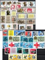 12 ZD-sets DDR 732,893/4,905/6,970/1,1320/1,1789/1,1052/3,1650/1,2216/8,2697/8,2732,3254/5+ ZD ** 44€ Se-tenants Germany - Sellos