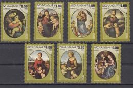 Nicaragua 1983 Mi Nr 2433 - 2439 Schilderijen Van Raffael (1483-1520) - Nicaragua