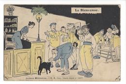 14786 - Scènes Militaires La Bienvenue Chat Noir - Humour