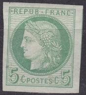 CG CERES 5c Vert N°17 NEUF * - SUPERBES MARGES - COLONIES GENERALES - Cérès