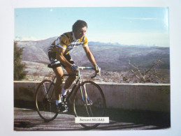 Carte  PUB  RENAULT  GITANE  CAMPAGNOLO  :  Bernard  BECAAS   XXX - Cycling