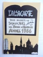 67  PFAFFENHOFFEN  L ALSACARTE JOYEUX NOEL 1986 TIRAGE LIMITE - France