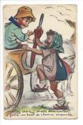 14788 - Couple Montez Donc J'serons Ben Contant D'faire Un Bout De Chemin Ensemble Carte Découpi N°610 - Bouret, Germaine