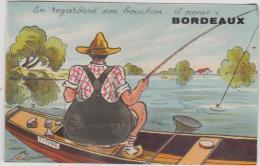 BORDEAUX CARTE A SYSTEME 10 VUES PECHEUR BARQUE TBE - Bordeaux