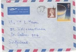 COS-L24 - GRANDE-BRETAGNE Lettre Par Avion Pour La Suisse Affr. Thème Astrologie - Astrology