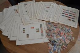 Gros Vrac A Trier Colonie Française Origines Au Années 40 Feuilles D'albums Et Vrac - Stamps