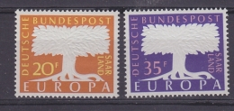 Europa Cept 1957 Saarland 2v  ** Mnh (30361) - 1957