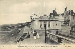- Depts Div.-ref- GG368 - Calvados - Villers Sur Mer - Digue A Maree Basse Et Casino -casinos - Carte Bon Etat - - Villers Sur Mer