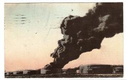 TULSA - Burning Oil Tank, Tulsa, Oklahoma - PETROLE - USINE - Tulsa