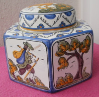 Pot Couvert / Bonbonnière / Sucrier à 6 Faces, En Porcelaine De Hongrie - Other