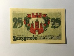 Allemagne Notgeld Harzgerode 25 Pfennig  1921 NEUF - [ 3] 1918-1933 : Weimar Republic