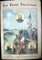 SCAPHANDRIER 2 GRAVURES COULEUR  DU PETIT JOURNAL 1910 SCAPHANDRIER REMONTANT LE PAVILLON DU PLUVIOSE - 1850 - 1899
