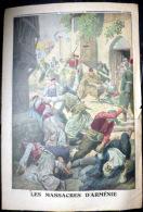 ARMENIE LES MASSACRES D´ARMENIENS PAR LES JEUNES TURCS GRAVURE COULEUR 12 DECEMBRE 1915 TEXTE INTERIEUR - Zeitungen