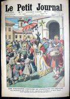 EPIPHANIE FETE DES ROIS FEVES  COUTUME DE L'EPIPHANIE EN ESPAGNE  ROIS MAGES  GRAVURE COULEUR  1914 - Zeitungen
