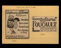 CONFITURE - 2 Petites Publicités Issues De L'Echo De La Mode Collées Sur Carton - 1930 Et 1922 - Publicités