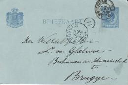 Amsterdam - Naar Brugge - 21 Juli 1884 - Postal Stationery