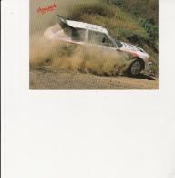 CARTE POSTALE  RALLYE -ACROPOLE-  PEUGEOT CHAMPION DU MONDE 1985-86 -KANKKUNEN-PIIRONEN - Rallyes