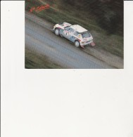 CARTE POSTALE  RALLYE - NOUVELLE - ZELANDE  PEUGEOT CHAMPION DU MONDE 1985-86 -KANKKUNEN-PIIRONEN - Rallyes