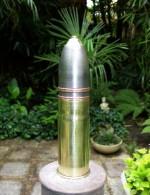 Obus De 37 Mm Français Ww1 1916 Neutra (amorce Percutée,pas De Fusée,douille Et Ogive Vide )ancre De Marine - Armes Neutralisées