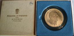 PANAMA 1973 - 20 BALBOA ARGENTO PROOF - Panama