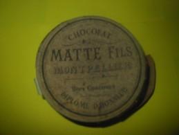 Ancienne Boite Publicitaire Chocolat MATTE Fils Montpellier - Cioccolato
