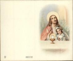 COMMUNIANTS - Lot De 8 Images Pieuses Pouvant Se Plier Leur Milieu - Images Religieuses