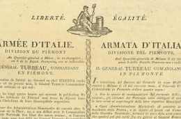 ARMEE D'ITALIE 1800 - Division Du PIEMONT - General Turreau De Garambouville (1756-1816) - Milano - Documents Historiques