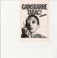 CARTE POSTALE  GAINSBARRE ..TABAC !   PHOTO WILLIAM KLEIN  ANNEE 1986 - Singers & Musicians