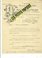 13 - Bouches-du-rhône - PELISSANNE - Facture CASTELAS - Cafés, Huiles Et Savons – 1933 - REF 230A - 1900 – 1949