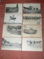 SAUMUR 1900  HARAS LOT 8 CPA  / ECUYER / POURSUITE / COURSE / EQUITATION / DRESSAGE  EDIT FR.VOELCKER - Saumur