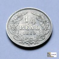 Honduras - 1/4 Real - 1869 - Honduras