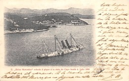 """EL """"REINA MERCEDES"""" ECHADO A PIQUE A LA VISTA DE CAYO SMITH 4 JULIO 1898. - Ships"""