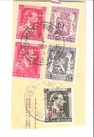 Belgique-Fragment-Perforé AF Avenir Familial-1942-St Josse-Joost-Ten-Noode-Timbres COB 421-428 (paire)-569 Et 571 - 1934-51
