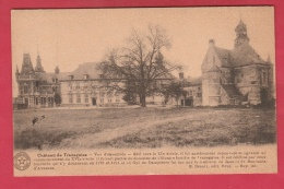 Trazegnies - Château , Vue D'ensemble - Superbe Griffe Postale De Trazegnies Au Verso - Courcelles