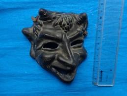 Masque En Terre Cuite  (le Diable) - Art Populaire