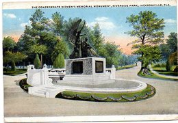 The Confederate Women's Memorial Monument, Riverside Park, JACKSONVILLE- FLORIDA  ( Amerique ) - Jacksonville