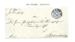 1885. GERMAN  OCCUPATION .ENTIRE  LETTER. POZNAŃ--BYDGOSZCZ . - Pologne