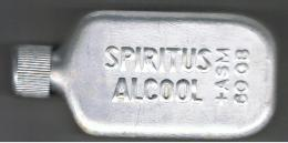Flasque Spiritus Alcool   Aluminium   10cm  X 5 Cm  X 2.5 Cm - Autres Collections