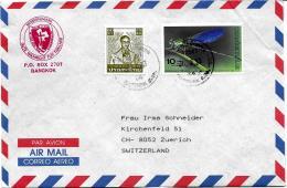 26672 - Enveloppe De Thailande Avec 1 Timbre Insecte - Insectes