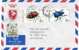 26674 - Enveloppe De Thailande Avec 2 Timbres Insectes - Insectes