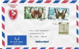 26675 - Enveloppe De Thailande Avec 2 Timbres Papillons - Papillons