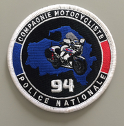 Écusson Police  Compagnie Motocycliste 94 - Police