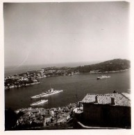 Photo Originale La Rade De Villefranche-sur-mer Avec Saint-Jean-Cap-Ferrat Le 28.03.1939 - Navires De Guerre - Places