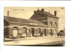 CP- BOUE (02) LA GARE - France