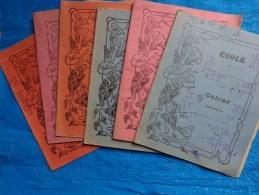 Lot De Cahier D'ecolier  Deja Utilises De 1940-dictee-grammaire-math Etc...plusieurs Eleves - Autres Collections